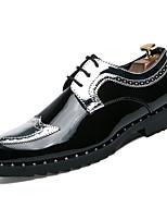 Недорогие -Муж. Комфортная обувь Полиуретан Весна На каждый день Туфли на шнуровке Дышащий Золотой / Серебряный