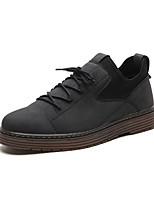 Недорогие -Муж. Комфортная обувь Полиуретан Зима На каждый день Кеды Нескользкий Черный / Коричневый