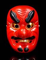 Недорогие -Японская маска Хання Омен Ужас Красный / Золотой Резина Для вечеринок Косплэй аксессуары Рождество / Карнавал / Маскарад костюмы