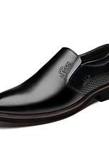 Недорогие -Муж. Официальная обувь Кожа Весна & осень Деловые / На каждый день Мокасины и Свитер Дышащий Черный / Коричневый