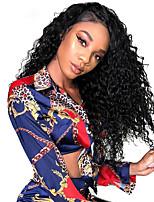 Недорогие -человеческие волосы Remy Полностью ленточные Лента спереди Парик Стрижка боб стиль Бразильские волосы Глубокий курчавый Парик 130% 150% 180% Плотность волос Модный дизайн Мягкость Sexy Lady