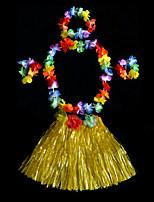 Недорогие -Гавайский Хула танцор Гавайские костюмы Детские Мальчики Активный Рождество Хэллоуин Карнавал Фестиваль / праздник ПВХ Зеленый / Синий / Розовый Карнавальные костюмы Цветочный принт