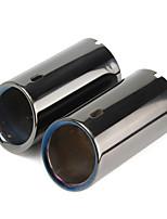 Недорогие -1 шт. 68 mm Советы по выхлопной трубе выпрямленный Нержавеющая сталь Глушители выхлопа Назначение BMW 3 серии 2006 / 2007 / 2008