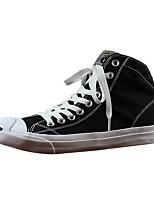 Недорогие -Муж. Комфортная обувь Полотно Весна & осень Кеды Белый / Черный / Темно-синий