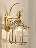 Недорогие -Творчество Современный современный Настенные светильники На открытом воздухе / Сад Металл настенный светильник 220-240Вольт 40 W