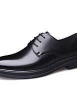 cheap -Men's Formal Shoes Leather / Cowhide Spring & Summer / Fall & Winter Business / Casual Oxfords Breathable Black / Brown