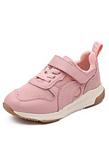 Недорогие -Девочки Обувь Кожа Весна & осень Удобная обувь Спортивная обувь Беговая обувь для Для подростков Черный / Розовый
