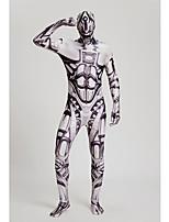 """Недорогие -Костюмы на все тело """"зентай"""" Костюмы кошки Кожаный костюм Ниндзя Взрослые Косплэй костюмы Сплошной Хэллоуин Белый Камуфляж Накладки от Toyokalon Tactel Муж. Жен. Хэллоуин Карнавал Маскарад"""