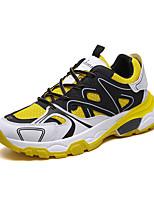 Недорогие -Муж. Комфортная обувь Полиуретан Весна Спортивные / На каждый день Кеды Нескользкий Контрастных цветов Черный / Оранжевый / Желтый