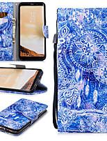 Недорогие -Кейс для Назначение SSamsung Galaxy S8 Plus Кошелек / Бумажник для карт / Защита от удара Чехол Ловец снов Твердый Кожа PU для S8 Plus