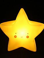 Недорогие -1шт Пентаграмма LED Night Light Желтый Батарея с батарейкой Креатив <=36 V