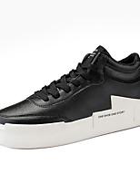 Недорогие -Муж. Комфортная обувь Полиуретан Зима На каждый день Кеды Нескользкий Черный / Серый / Черно-белый
