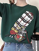 Недорогие -Тонкая футболка азиатского размера для женщин - мультфильм с круглым вырезом