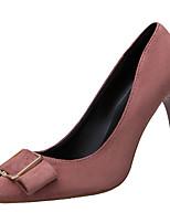 Недорогие -Жен. Замша Весна На каждый день Обувь на каблуках На шпильке Бант Черный / Коричневый / Красный