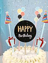 Недорогие -Украшения для торта Классика / Праздник / День рождения Художественные / Ретро / Уникальный дизайн Чистая бумага День рождения с Планка 1 pcs Пенополиуретан