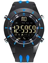Недорогие -Муж. электронные часы Цифровой силиконовый Черный Защита от влаги Календарь Фосфоресцирующий Цифровой На каждый день Мода - Кофейный Зеленый Синий