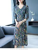 Недорогие -женское повседневное платье миди-слим красно-коричневого цвета