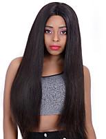 Недорогие -человеческие волосы Remy 360 Лобовой Лента спереди Парик Бразильские волосы Прямой Шелковисто-прямые Парик 130% 150% Плотность волос Жен.