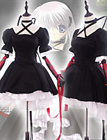 abordables -Cosplay Robes Costume de Cosplay Tous Cosplay de Film Noir Robe Noël Halloween Nouvel an Satin