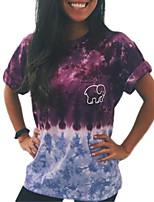 Недорогие -Тонкая футболка азиатского размера для женщин - шею животного