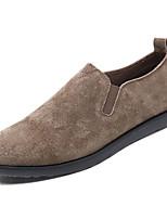 Недорогие -Муж. Комфортная обувь Свиная кожа Весна На каждый день Мокасины и Свитер Дышащий Черный / Серый / Хаки