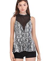 Недорогие -узкая женская блузка азиатского размера - леопардовая шея