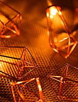 Недорогие -4м Гирлянды 20 светодиоды Желтый Для вечеринок 220-240 V 1 комплект