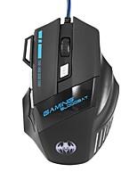 Недорогие -Factory OEM Проводной USB Gaming Mouse 7 pcs ключи RGB свет 4 Регулируемые уровни DPI 3200 dpi