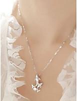 Недорогие -Жен. Ожерелья с подвесками Серебряный 45 cm Ожерелье Бижутерия 1шт Назначение Повседневные
