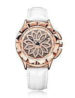 Недорогие -Жен. Наручные часы Кварцевый Натуральная кожа Белый Повседневные часы Аналоговый На каждый день Мода - Розовое золото / Белый / Нержавеющая сталь