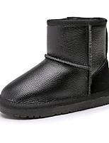 Недорогие -Девочки Обувь Кожа Зима Удобная обувь / Зимние сапоги Ботинки для Для подростков Черный / Серый / Розовый