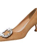 Недорогие -Жен. Полиуретан Весна На каждый день Обувь на каблуках На каблуке-рюмочке Стразы Черный / Хаки