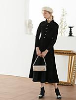 Недорогие -Жен. Винтаж / Элегантный стиль А-силуэт Платье - Однотонный Средней длины