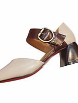 Недорогие -Жен. Полиуретан Весна На каждый день Обувь на каблуках На толстом каблуке Бежевый / Серый / Желтый