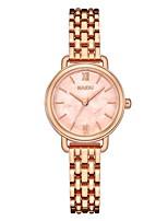 Недорогие -Жен. Наручные часы Японский Кварцевый Серебристый металл / Розовое золото 30 m Очаровательный Творчество Повседневные часы Аналоговый На каждый день Мода - Светло-синий Розовый Зеленый / Один год
