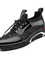 Недорогие -Муж. Комфортная обувь Полиуретан Весна Кеды Черный / Черный / Красный