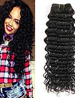 Недорогие -3 Связки Бразильские волосы Индийские волосы Крупные кудри Не подвергавшиеся окрашиванию Головные уборы Человека ткет Волосы Сувениры для чаепития 8-28 дюймовый Естественный цвет