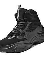 Недорогие -Муж. Комфортная обувь Сетка Весна На каждый день Кеды Дышащий Черный / Бежевый / Серый