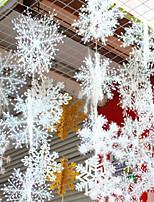Недорогие -Праздничные украшения Новый год / Рождественский декор Рождественские украшения Декоративная Белый 6шт