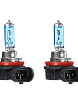 Недорогие -пара dc12v белый 6000k 100w 3600lm h1 h4 h7 h11 фары автомобильные галогенные лампы накаливания лампы накаливания