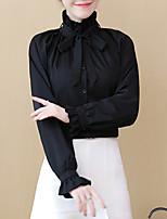 Недорогие -женская блузка - однотонная подставка