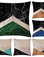 Недорогие -6 штук Хлопок / Лён Наволочки, Простой геометрический Простой Геометрия