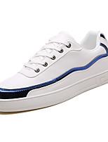 Недорогие -Муж. Комфортная обувь Полиуретан Весна На каждый день Кеды Нескользкий Контрастных цветов Черно-белый / Белый / синий / Белый / Желтый