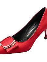 Недорогие -Жен. Полиуретан Весна Обувь на каблуках На шпильке Заостренный носок Черный / Красный / Хаки
