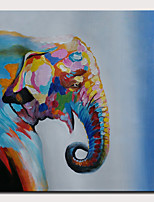 Недорогие -Hang-роспись маслом Ручная роспись - Абстракция Поп-арт Modern Без внутренней части рамки