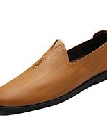 Недорогие -Муж. Комфортная обувь Полиуретан Весна На каждый день Мокасины и Свитер Нескользкий Черный / Желтый / Коричневый