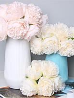 Недорогие -Искусственные Цветы 1 Филиал Классический Свадьба Свадебные цветы Пионы Букеты на стол