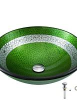 Недорогие -умывальник для ванной / монтажное кольцо для ванной / водосток для ванной Современный - Закаленное стекло Круглый