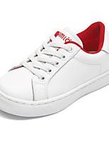 Недорогие -Девочки Обувь Кожа Весна & осень Удобная обувь Кеды для Для подростков Красный / Синий / Розовый