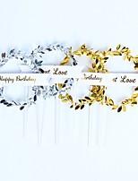 Недорогие -Украшения для торта Классика / Праздник / День рождения Художественные / Ретро / Уникальный дизайн пластик Для вечеринок / День рождения с Пайетки 1 pcs Пенополиуретан